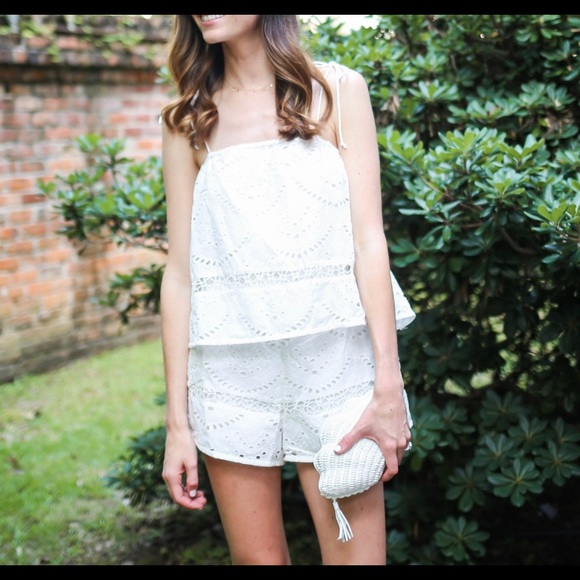 b317e01192aa Lovers + Friends Other - Lovers + Friends white eyelet romper